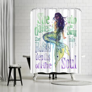 Sam Nagel Mermaid Profound Depths Single Shower Curtain
