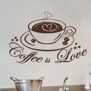 Coffee Love Wall Decal  sc 1 st  Wayfair & Kitchen Coffee Wall Decals | Wayfair