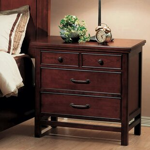 Buy clear Boonville 3 Drawer Nightstand by Darby Home Co