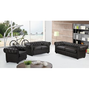 3 Piece Leather Living Room Set by Velago
