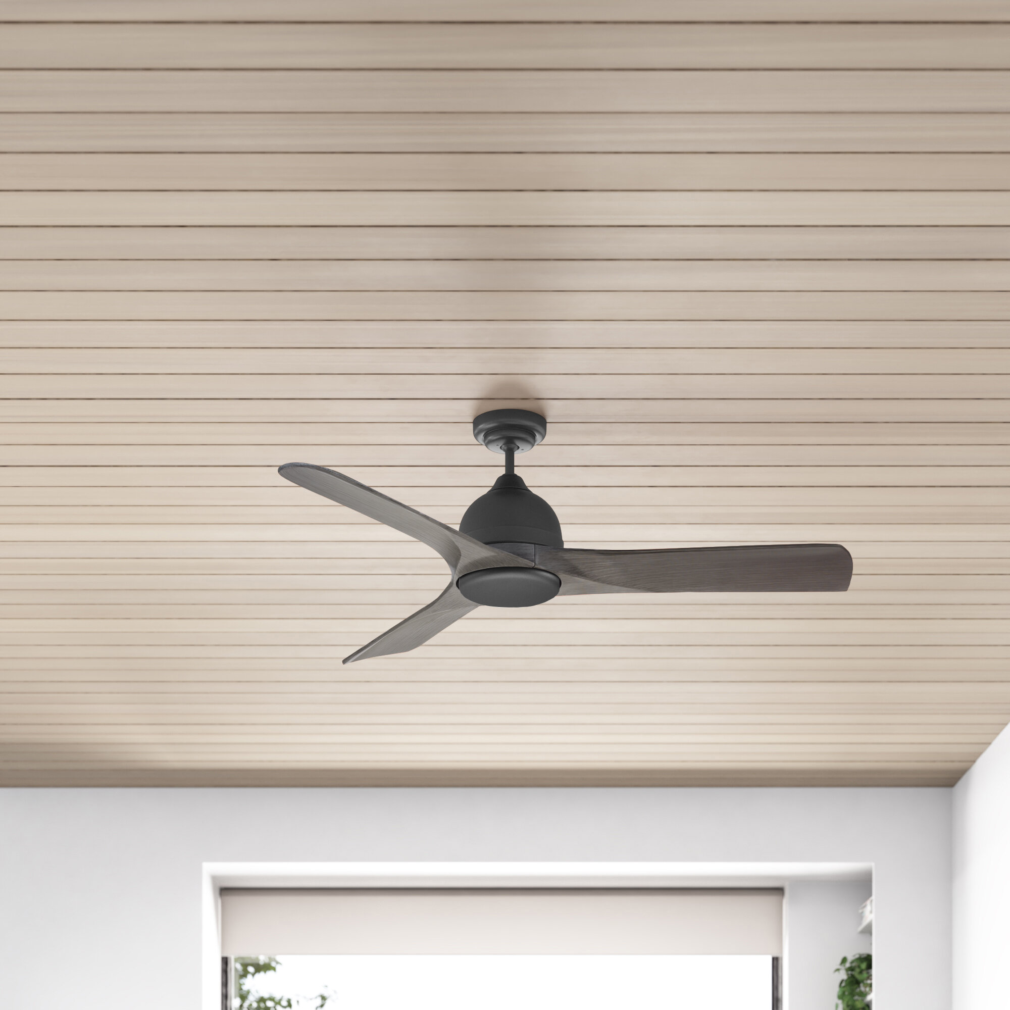 54 Zilla 3 Blade Outdoor Led Standard Ceiling Fan With Remote Control And Light Kit Included Reviews Allmodern
