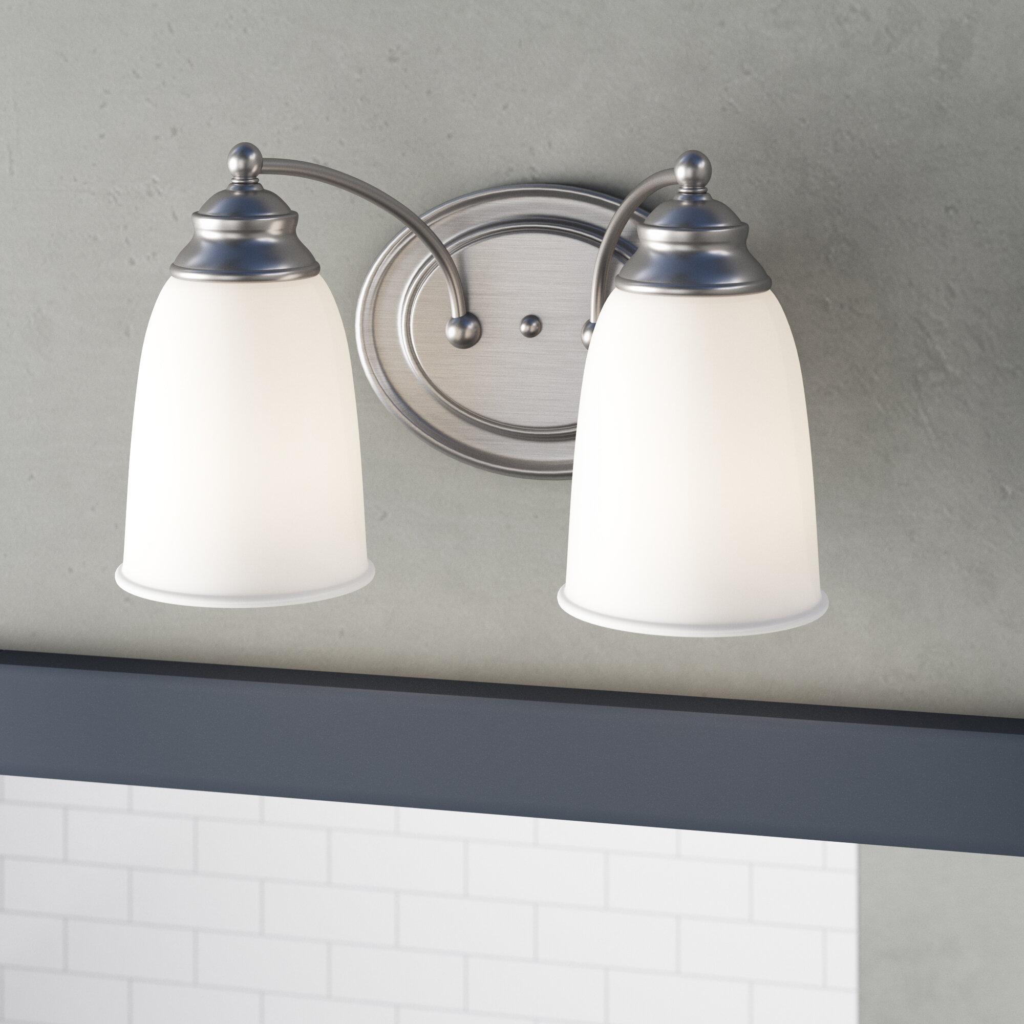 Winston Porter Kelwynne 2 Light Vanity Light Reviews Wayfair