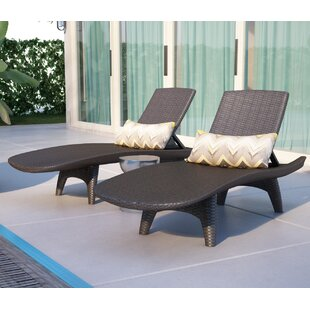 Clarita Reclining Chaise Lounge (Set of 2)
