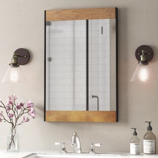 Vereen Wood and Metal Wall Mirror By Gracie Oaks