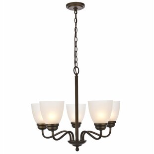 Charlton Home Hampton 5-Light Shaded Chandelier