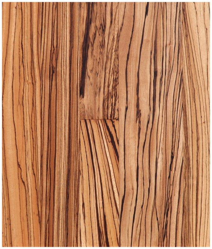 """Easoon Usa 5 Engineered Manchurian Walnut Hardwood: Easoon USA 5"""" Engineered Zebrawood Hardwood Flooring In"""