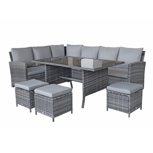 Berg 8 Seater Rattan Effect Sofa Set