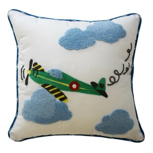 In The Clouds Airplane Throw Pillow