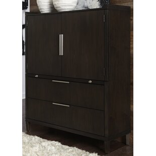 Brayden Studio Vanfleet 2 Drawer Gentleman&#..