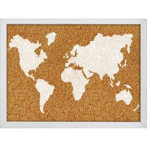 Magnetic j world map wayfair the world bulletin board gumiabroncs Gallery