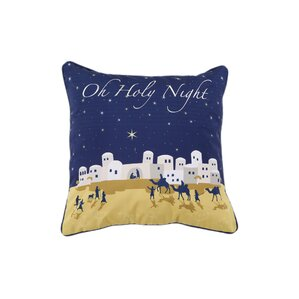 Manger Holiday Pillow Protector by Affluence Home Fashions