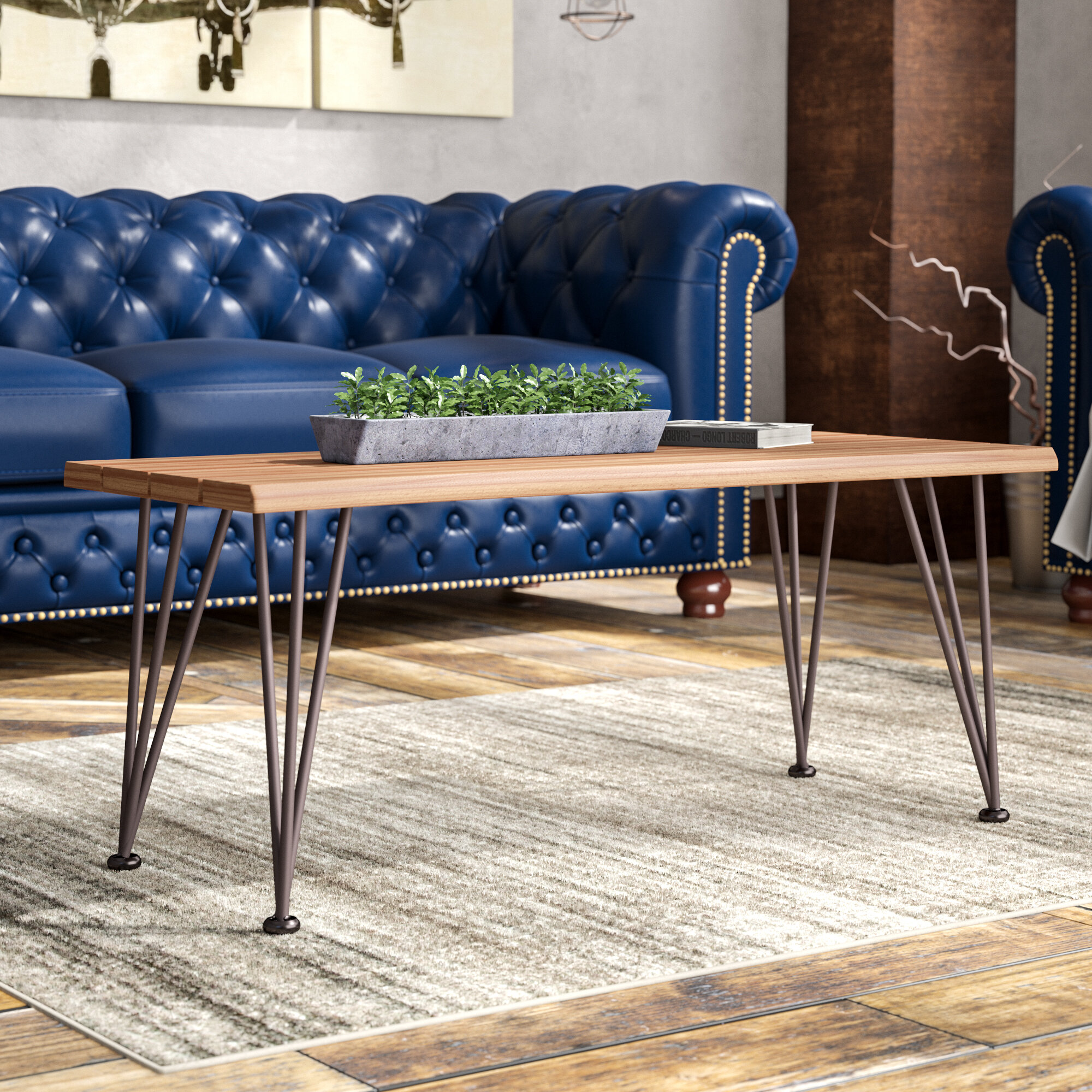 Trent Austin Design Guyapi Indoor Acacia Wood Coffee Table Reviews Wayfair