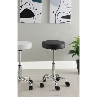 Kitson Adjustable Height Swivel Bar Stool by Ebern Designs