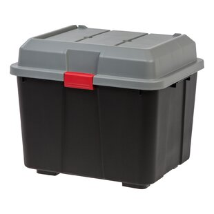 IRIS USA, Inc. Hinged Lid Utility Trunk (Set of 4)