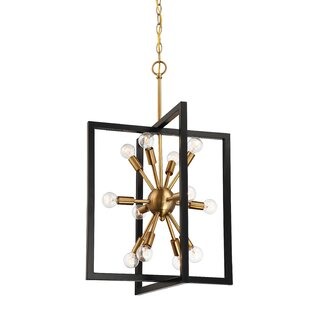 Janiyah 12-Light Geometric Pendant by Mercer41