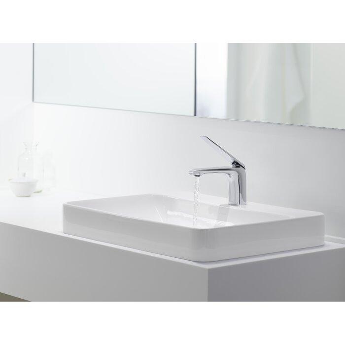 Rectangular Vessel Bathroom Sinks. Vox Rectangular Vessel Bathroom Sink With Overflow