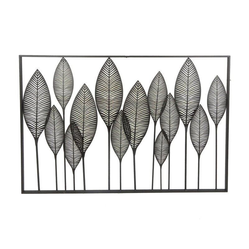Delicieux Metal Leaves Wall Décor