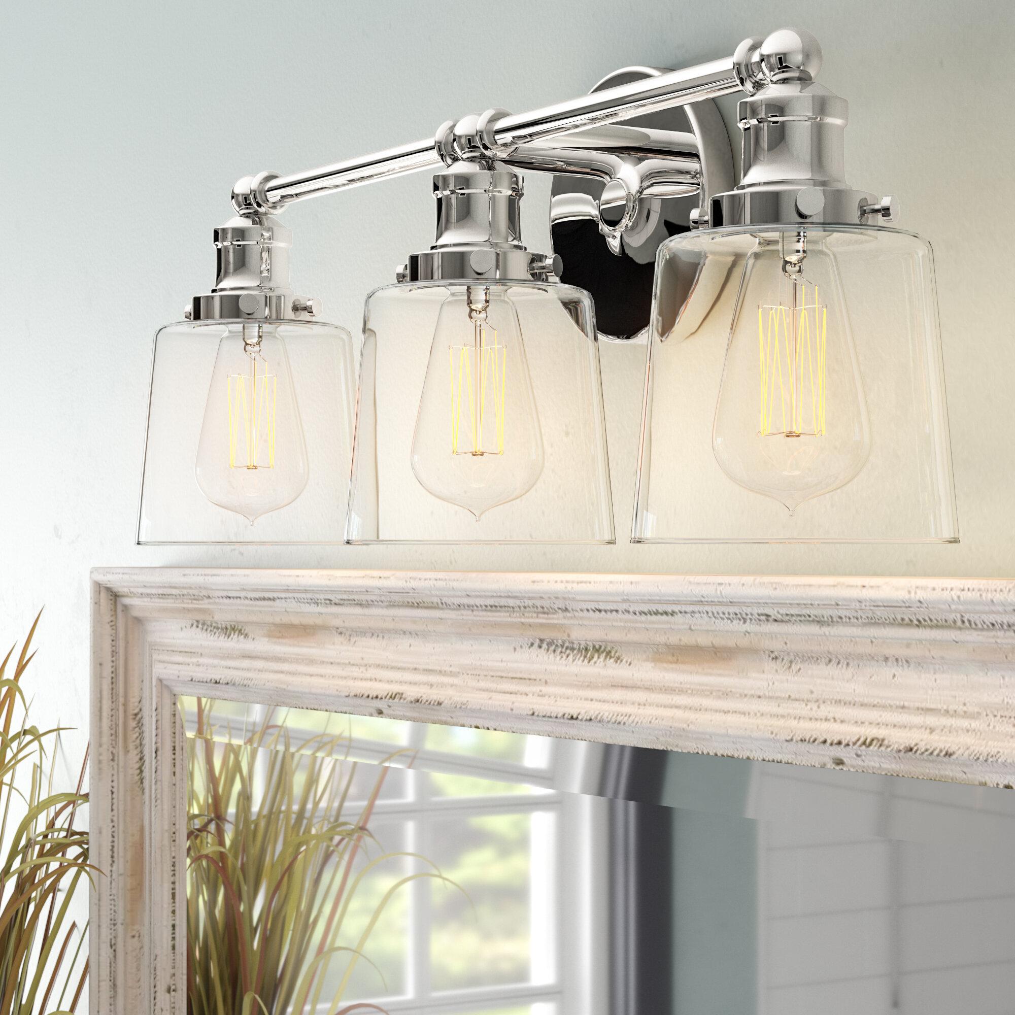 45917dcdc24 Beachcrest Home Woodburn 3-Light Vanity Light   Reviews