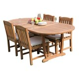 Maskell 5 Piece Teak Dining Set
