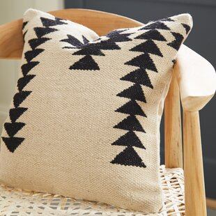 Cynthiann Wool and Cotton Throw Pillow