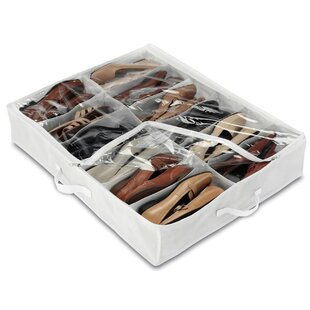 Top Underbed 12 Pair Shoe Storage Bag By Rebrilliant
