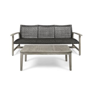 Cove Outdoor 2 Piece Sofa Seating Group With Cushions by Gracie Oaks 2019 Coupon