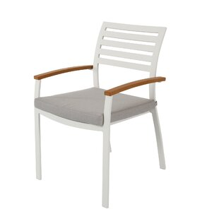 Rumbaugh Stacking Patio Dining Chair with Cushion (Set of 4)