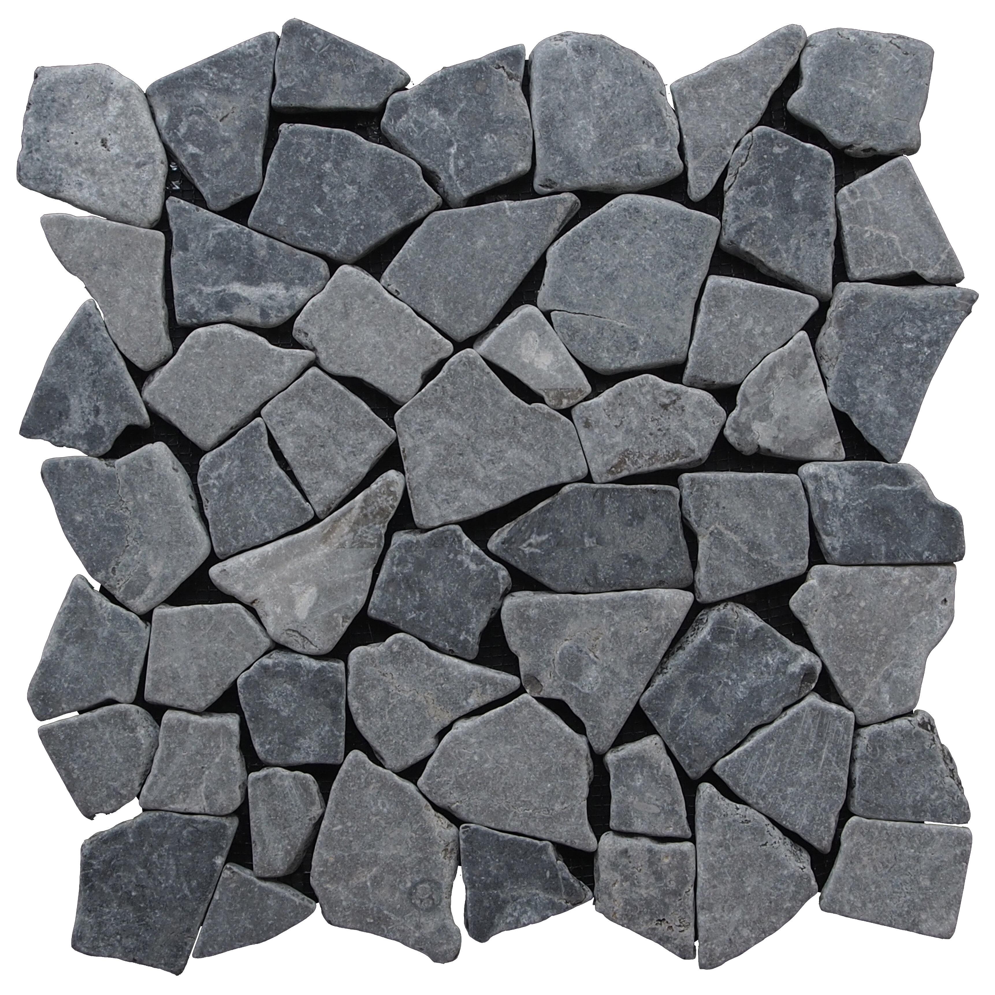 Pebble tile fit random sized natural stone mosaic tile reviews wayfair