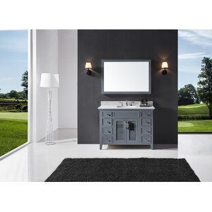 Magdalen 48 Single Bathroom Vanity Set with Mirror by Highland Dunes