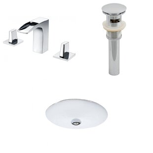 Guide to buy Ceramic Oval Undermount Bathroom Sink with Faucet and Overflow By American Imaginations