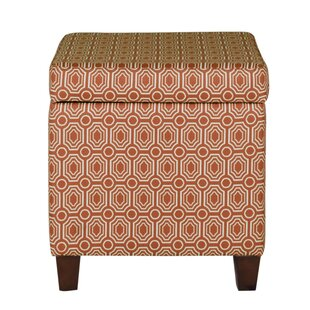 Brochu Geometric Patterned Square Storage Ottoman by Brayden Studio