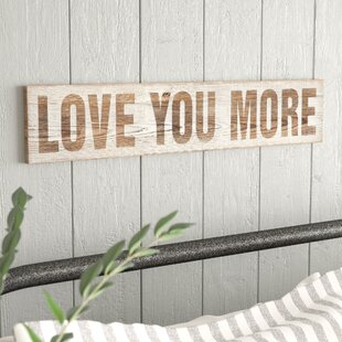Wood Love You More Wall Décor