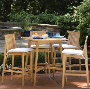 Bay Isle Home Kentmere 5 Piece Dining Set with Cushions