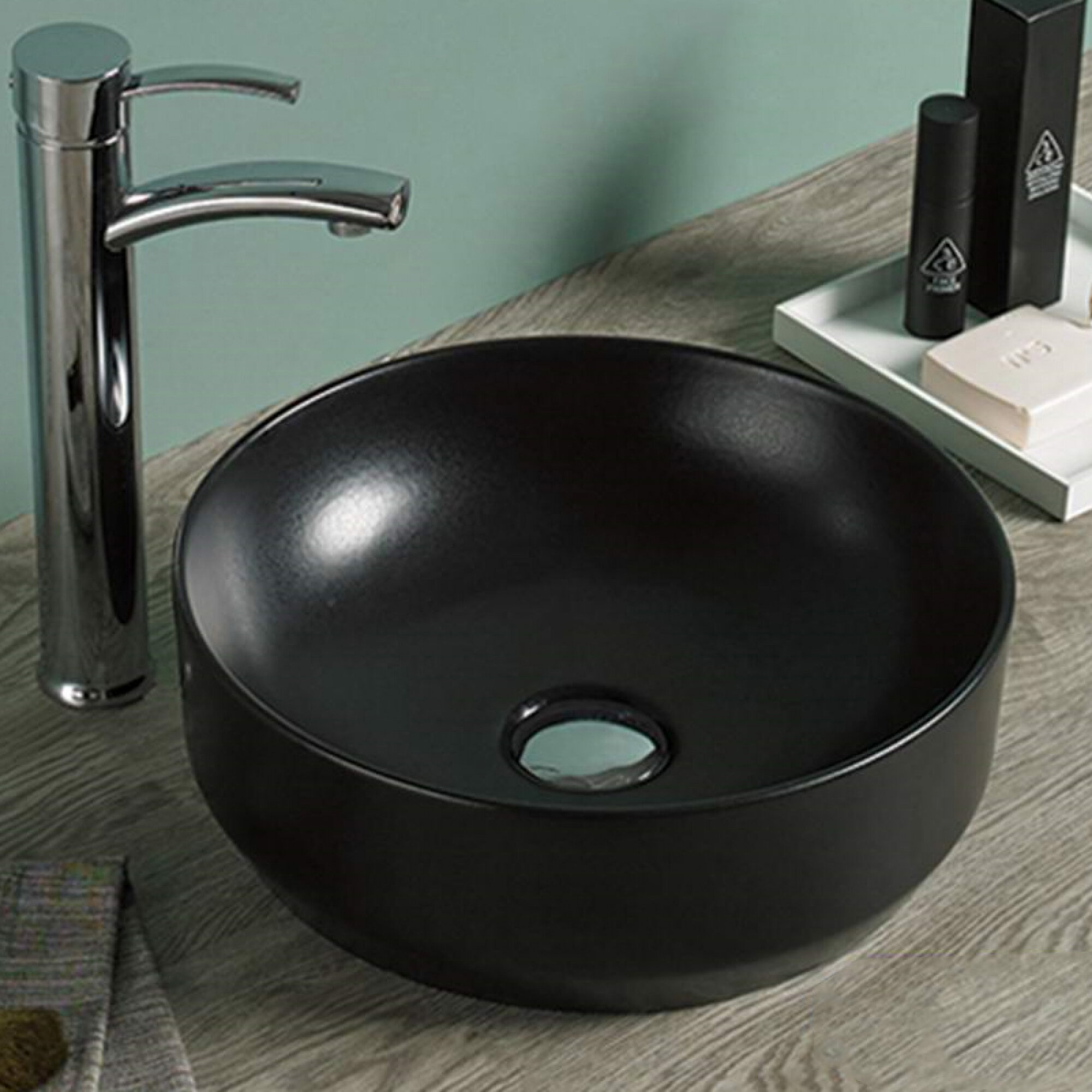 Avanities Ceramic Circular Vessel Bathroom Sink Wayfair