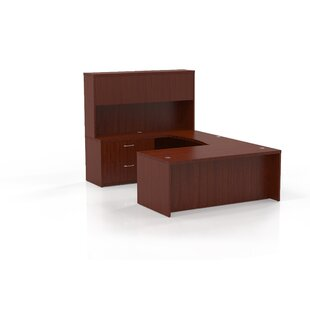 Aberdeen Series U-Shape Executive Desk With Hutch by Mayline Group Best Choices