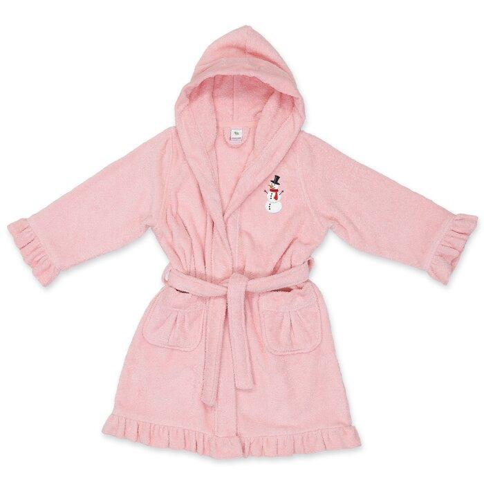 6b4d6eb1be9e6 Harriet Bee Astin Snowman Design Kids 100% Turkish Cotton Terry Cloth  Bathrobe | Wayfair