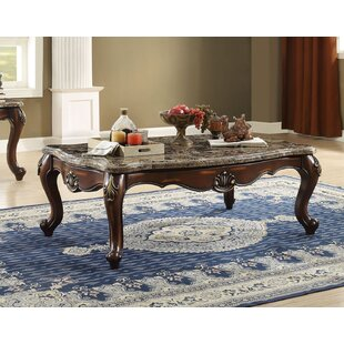 Sandersville Scalloped Living Room Coffee Table by Fleur De Lis Living