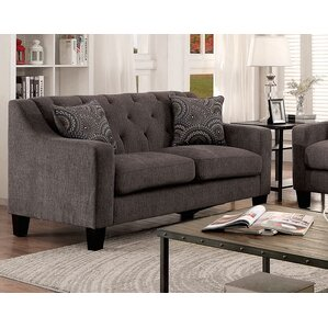 Manson Fabric Tufted Loveseat by A&J H..