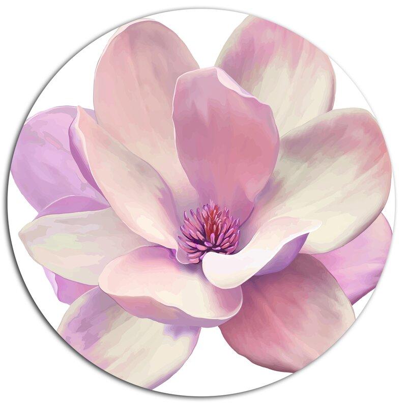 DesignArt 'Cute Light Pink Magnolia Flower' Oil Painting Print On