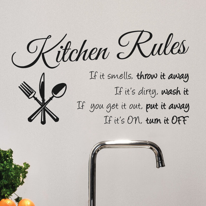 Kitchen Rules Wall Decal