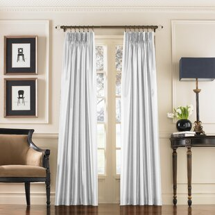 Marquee Solid Room Darkening Pinch Pleat Single Curtain Panel by Curtainworks