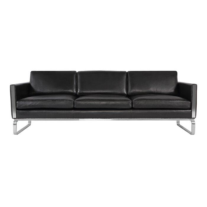 Aina Mid Century Modern Leather Sofa