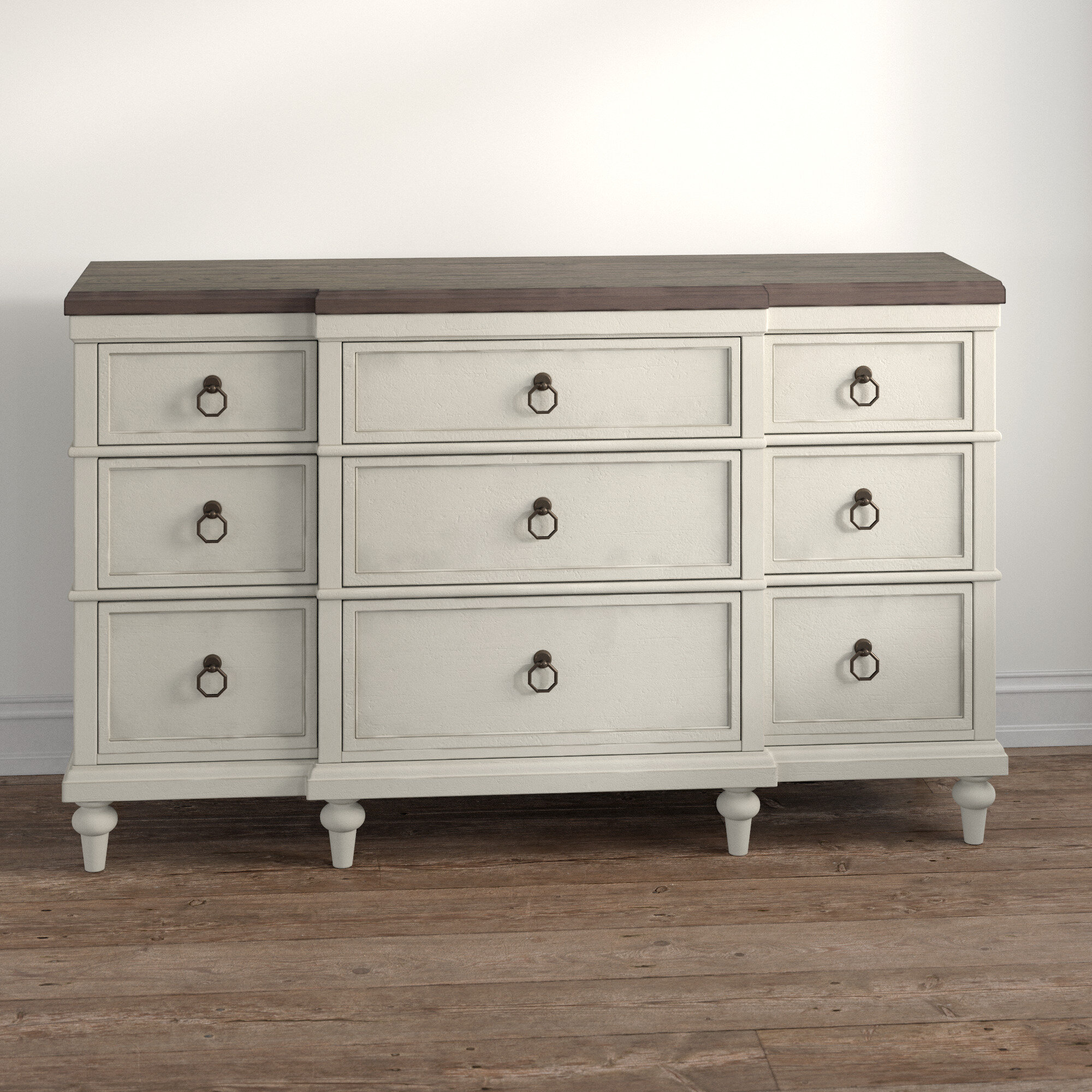 Kelly Clarkson Home Ornithogale 9 Drawer Double Dresser Reviews Wayfair Ca