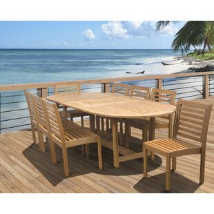 Beachcrest Home Flinn 9 Piece Dining Set