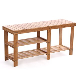 Loon Peak Donaldson 2 Tier Entryway Wood Storage Bench