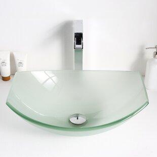 ANZZI Pendant Glass Specialty Vessel Bathroom Sink