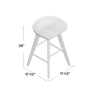 Manzer Bar & Counter Swivel Stool by Gracie Oaks