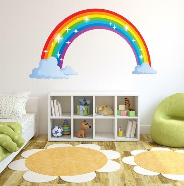 style and apply sparkling rainbow wall decal | wayfair