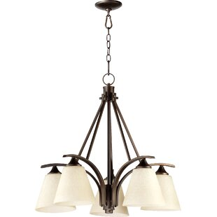 Lemon 5-Light Shaded Chandelier by Charlton Home
