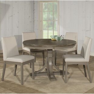 Kinsey 5 Piece Dining Set with Upholstered Chairs Rosecliff Heights